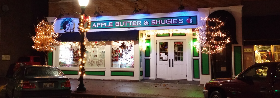 Outisde Apple Butter & Shugie's